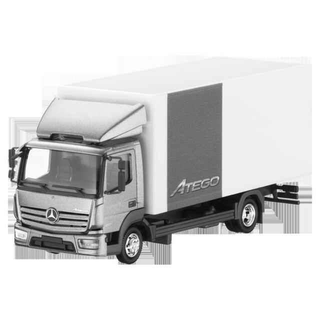 MERCEDES BENZ ATEGO Case Gray 1:87 NEW HERPA
