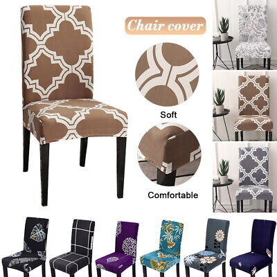 P/D Stretch Spandex Chair Covers Slipcovers Dining Room Home Cushion Slipcovers Dining Chair Cushion Covers