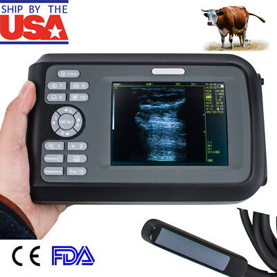 Handheld Veterinary Ultrasound Scanner Cowhorseanimal 7.5mhz Rectal Box V9