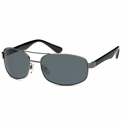 Trendige Sonnenbrille Pilotenbrille Grau Schwarz für Damen und Herren UV 400