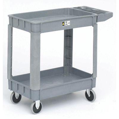 Hubert Tub Cart With Handle Grey Plastic Small - 31 L X 17 W X 42 H