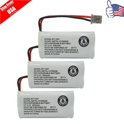 Replacement Battery For Uniden DECT 6.0 BT1008 BT-1021 Cordless Phone 3-PACK USA