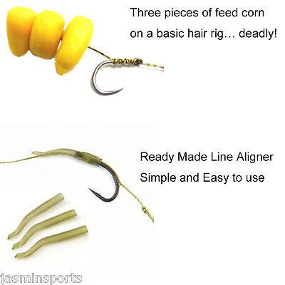 2 x Hair Rigs Carp Rig Fishing Terminal Tackle Kit Lead Clip Ready Made X6M4