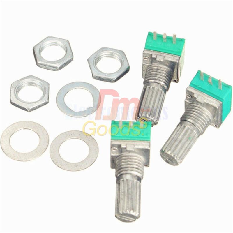5PCS 6mm 6Pin Rotary Potentiometer Shaft Adjustable Resistance 5K 100K 200K Ohm