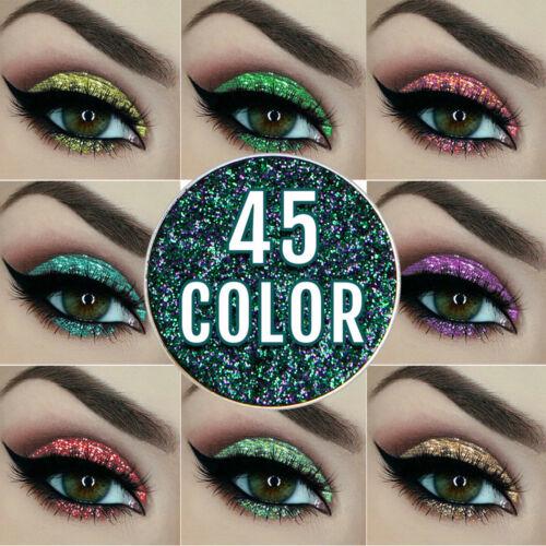 Women Lady Mixed glitter powder eyeshadow Eyes Pigment Loose
