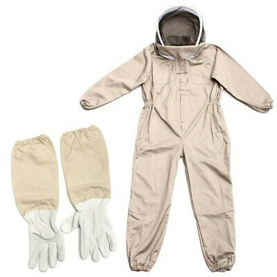 Full Body Anti-bee Suit Beekeeping Clothe Cotton Veil Hood Protectivegloves Xl