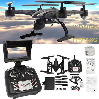 Jxd 509G Rc Drone Quadcopter With Hd Monitor Camera 5 8G Fpv Altitude Hold Usa