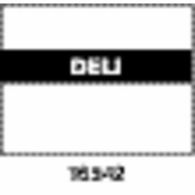 Monarch White Labels With Reversed Black Print Deli For 1115 2-line Pricing