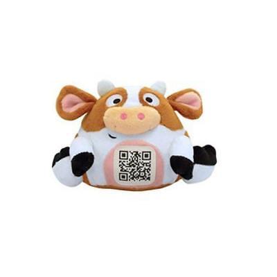 "SCANIMALZ Series 1- Cute Plush Moosic Cow 4"" tall"