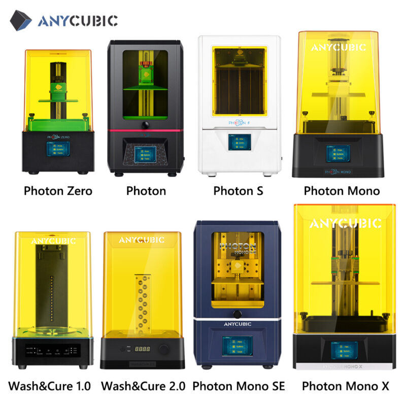 Used US ANYCUBIC SLA 3D Printer Mono SE / Mono X / Photon S / Wash and Cure 2.0