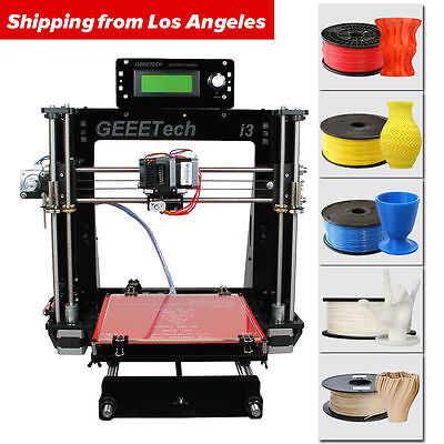 NO Tax in US GEEETECH Upgraded Acrylic Reprap 3D Printer Pro B MK8 extruder