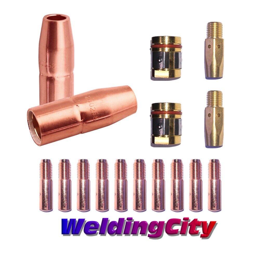 "MIG Welding Gun Kit .045/"" for Miller M-25//M-40 Contact Tip-Nozzle-DiffuserM38"