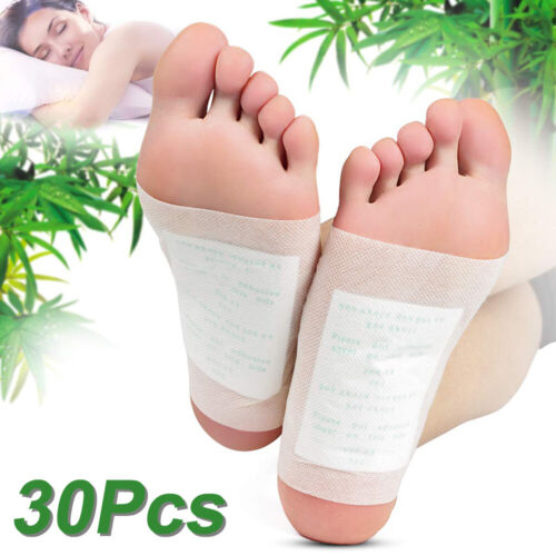 30pcs Detox Foot Pads Patch Detoxify Toxins + Adhesive Keeping Fit Health Care Detox Pads