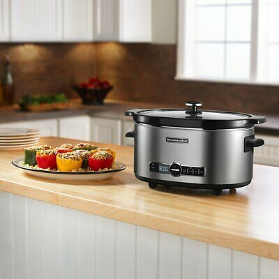 KitchenAid KSC6223SS 6-Qt. Slow Cooker with Standard Lid - Stainless Steel, New