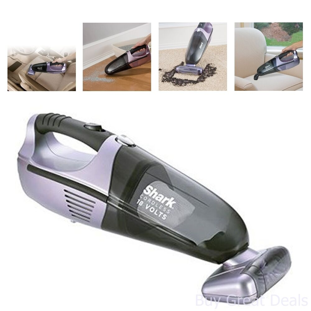 new shark handheld 18v vacuum cleaner cordless vac dust. Black Bedroom Furniture Sets. Home Design Ideas