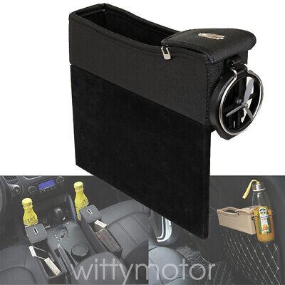 Car Seat Gap Filler Organiser Leather Slit Pocket Storage Coin Bottle Holder PU