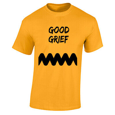 Charlie Browns Halloween Costume (Charlie Brown Costume T Shirt Good Grief Halloween Costume Zig Zag Striped)