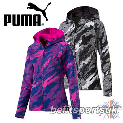 PUMA WOMENS LADIES LIGHT WIND RUNNING HOOD ZIP COAT JACKET S M L XL
