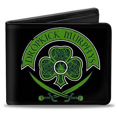 Bi-Fold Wallet - DROPKICK MURPHYS Crest Black/Greens