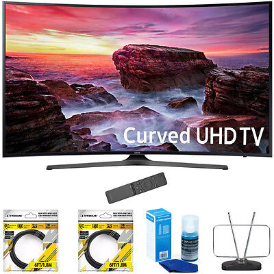 """Samsung 49"""" Curved 4K Ultra HD Smart LED TV 2017 Model with Cleaning Bundle"""