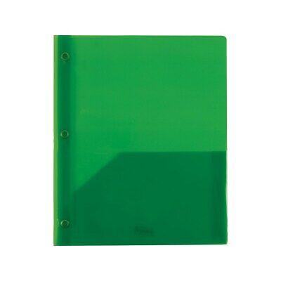 Staples 2 Pocket Plastic Folder Green 970157