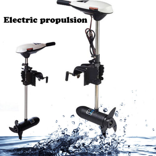 HANGKAI 65LBS Outboard Motor Engine Inflatable Boat Electric Trolling 12V 660W