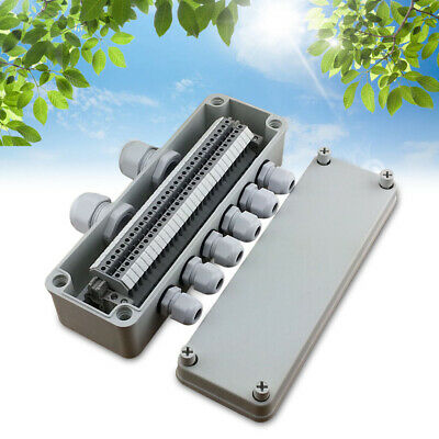 Ip65 Wiring Junction Box 8025070mm Uk2.5b Din Rail Terminal Blocks Waterproof