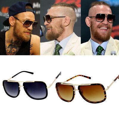Square Sunglasses Gold Conor McGregor Vintage Hip Hop MMA UFC Costume Glasses (Hiphop Costumes)