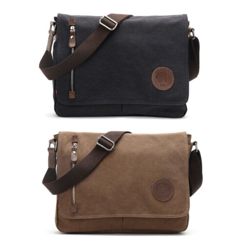 Bag - Men Messenger Bag Canvas Schoolbag Satchel Casual Shoulder Laptop Bags Crossbody