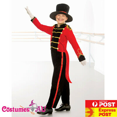 Deluxe Kids Ringmaster Magician Costume Circus Boys Child Lion Tamer Book Week](Boys Ringmaster Costume)