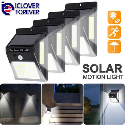 100 LED Solar Power Outdoor Lamp PIR Motion Sensor Waterproof Garden Wall Light