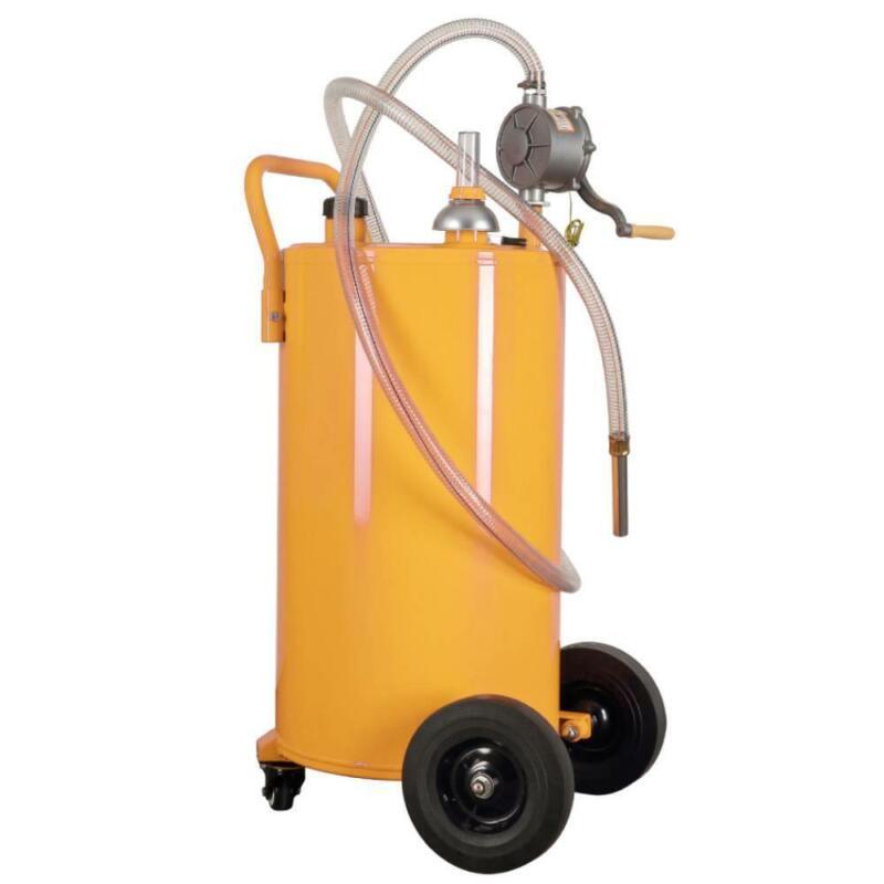 35-Gallon Heavy-Duty Gas Caddy Fuel Diesel Dispense Transfer Portable Tank Steel