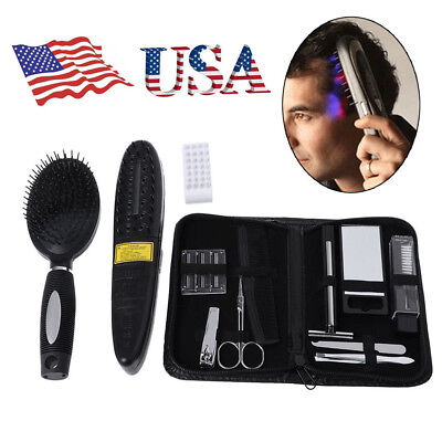 - Hair Laser Comb Loss Brush Grow Treatment Growth Therapy Massage Kit Regrowth US