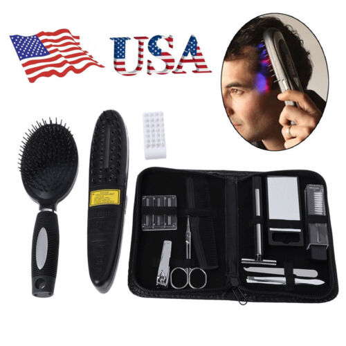 Hair Laser Comb Loss Brush Grow Treatment Growth Therapy Massage Kit Regrowth US Hair Care & Styling