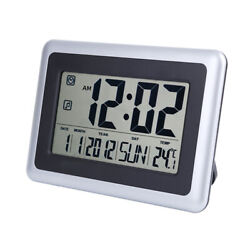 7.5 Large Digits 12/24 Hour Temperature Display Alarm Clock Wall Mounted/ Stand