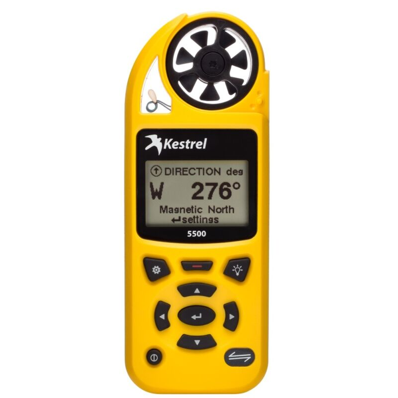 Kestrel 5500 0855YEL Weather Meter - YELLOW   Factory Authorized Dealer