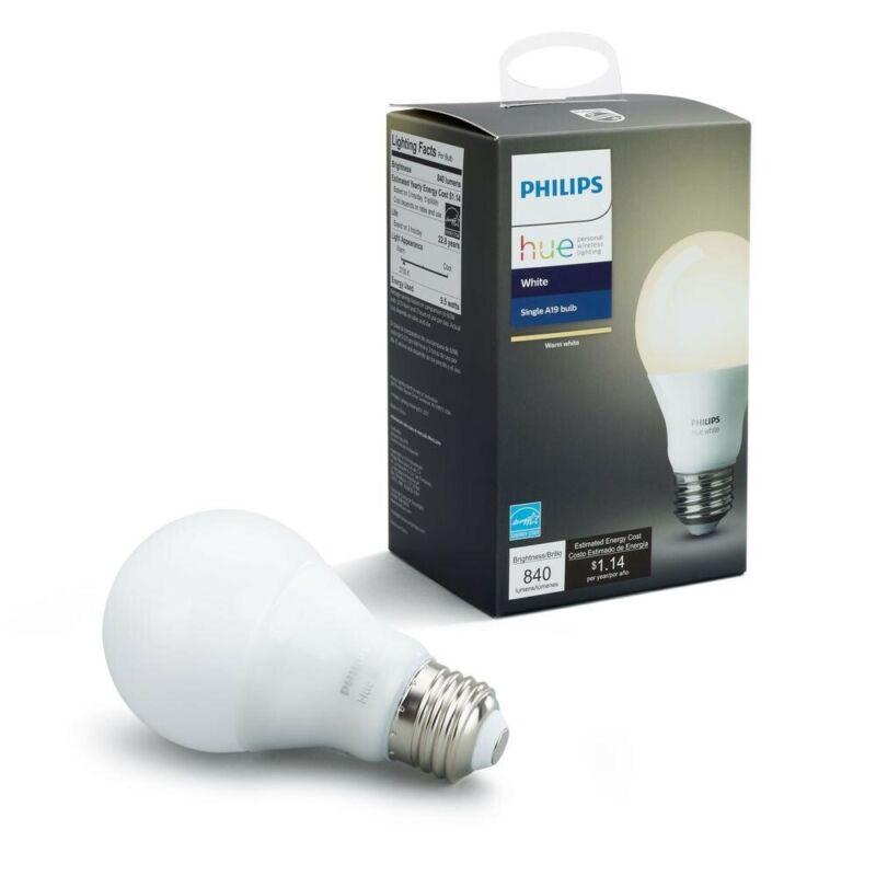 Philips hue A19 Smart LED Light Bulb White Only 455295