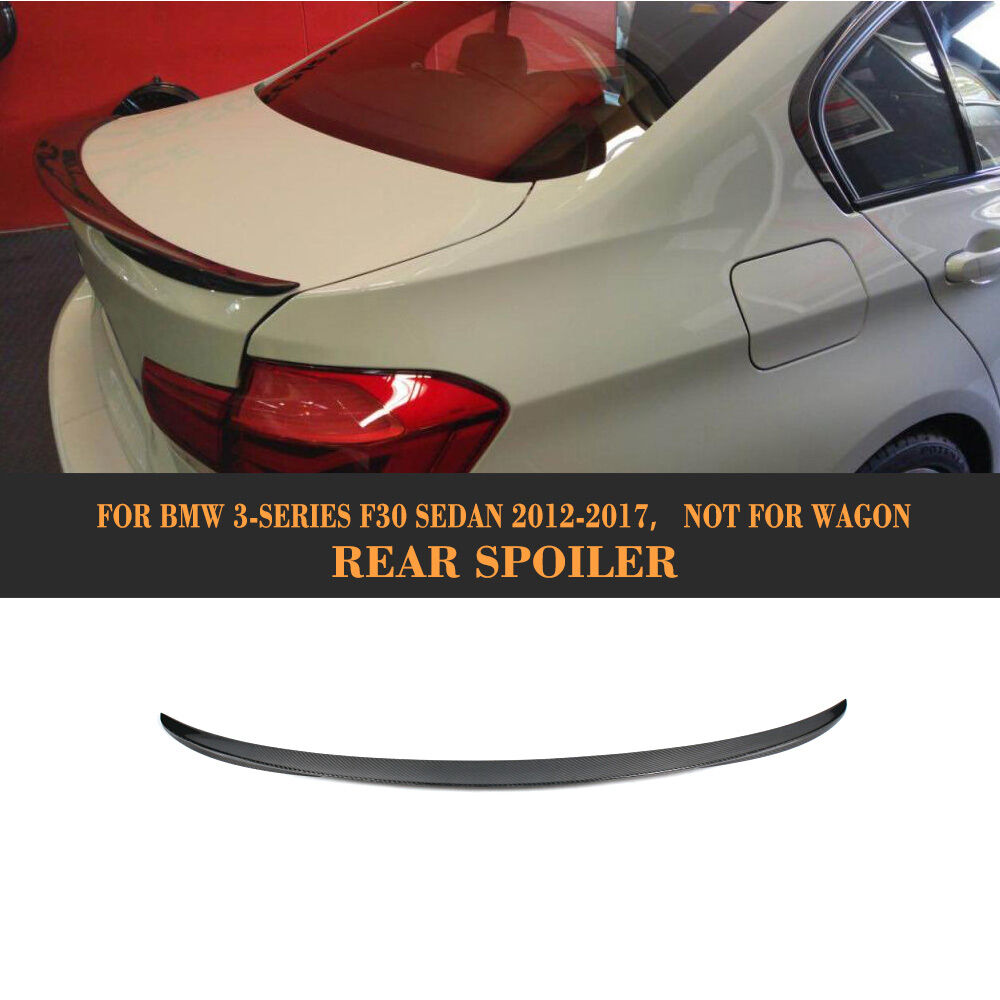 Carbon Fiber Rear Trunk Spoiler for 12-18 BMW F30 3 Series 320i 328i 335i Type C