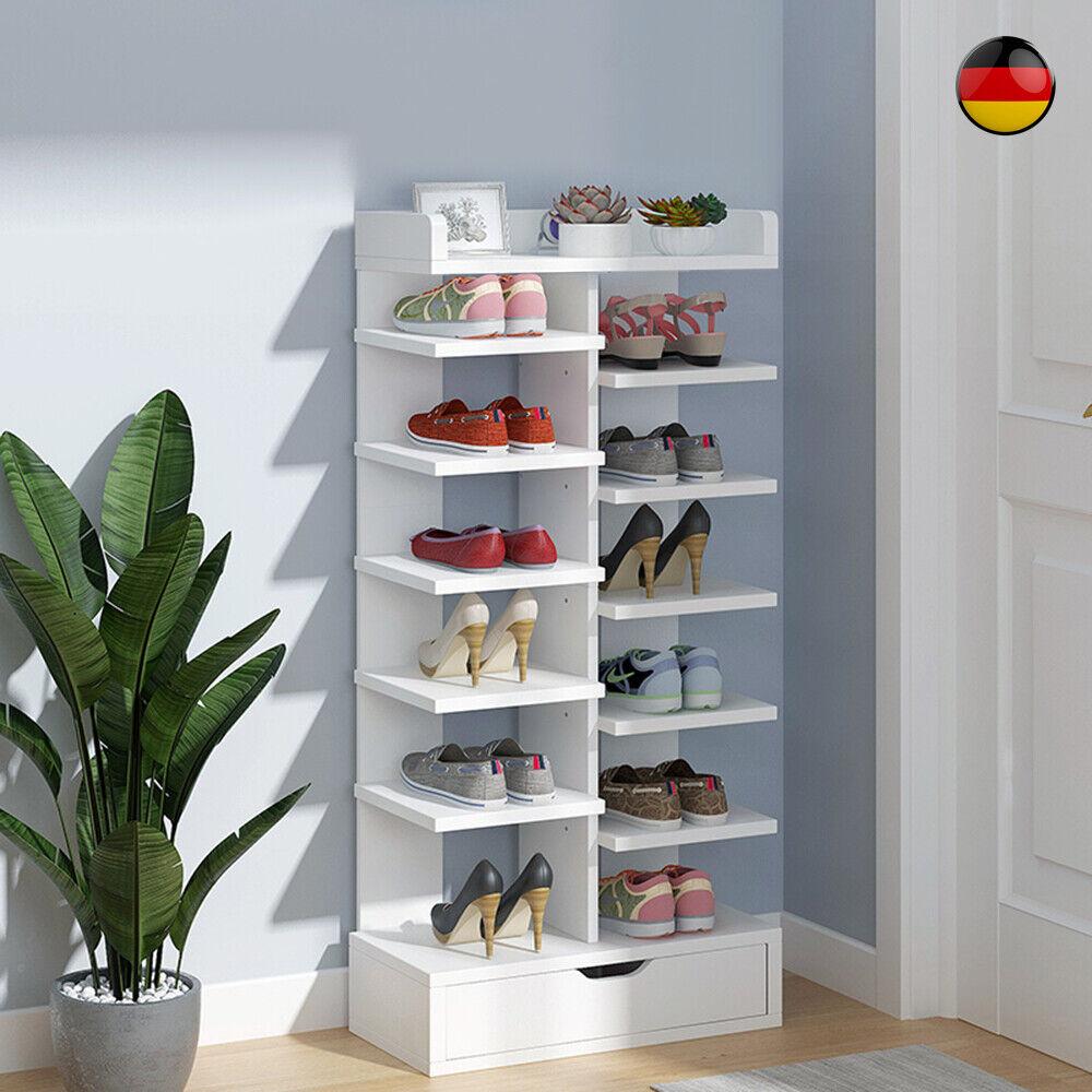 MDF Schuhregal Schuhablage Schuhschrank Standregal Schuhständer mit Kabinett DE