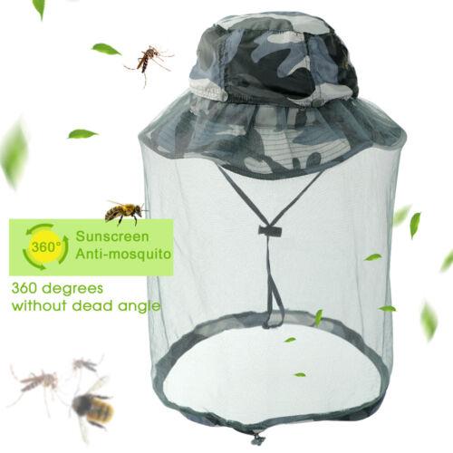 Men Women Outdoor Camping Mosquito Bee Net Mesh Head Face Ma