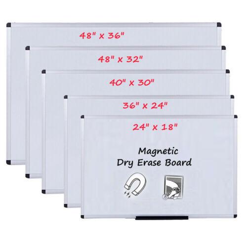 VIZ-PRO Dry Erase Board Magnetic Whiteboard Home Office School Aluminium Frame
