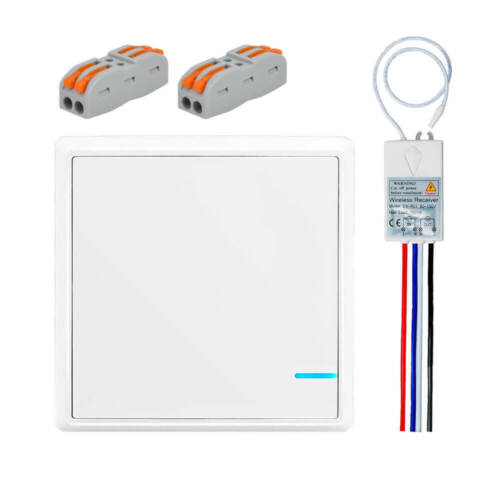 Wireless Smart Lamp Light Wall Switch Home Single 1 Way ON/O