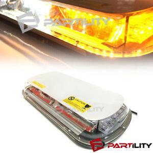 44 LED White Amber Light Mini Bar Roof Top Emergency Warning Flash Strobe Light