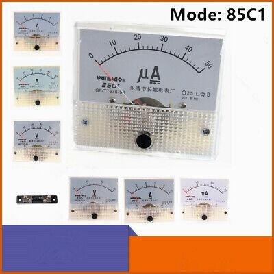 85c1 Dc 0-30ma5a10a0-30v50v Rectangle Panel Analog Ammeter Voltmeter Gauge
