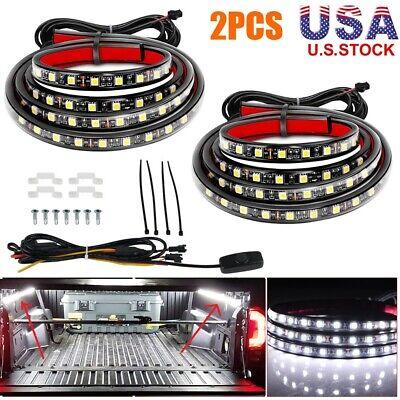 "BEVINSEE 2Pcs 60"" LED Cargo Truck Bed Light Strip Lamp Lighting Kit Waterproof"