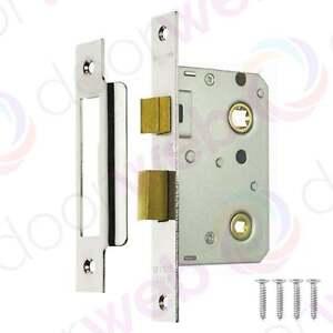 BATHROOM DOOR LOCK Mortice Toilet WC ERA Reversible Privacy POLISHED CHROME 64mm
