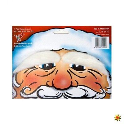 Augenbrauen weiß für Weihnachtsmann - Weiße Augenbrauen Kostüm