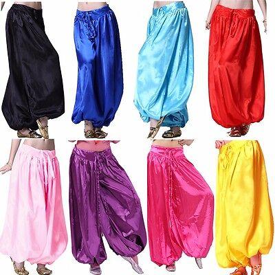 belly dance costume satin harem pants for women carnival arabian costume](Arabian Dance Costume)