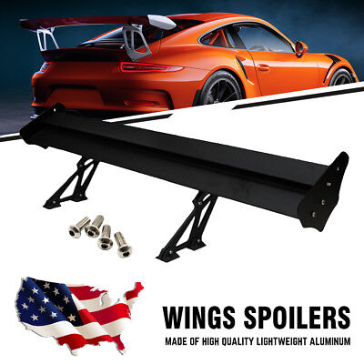 135cm Double Deck Car GT Wings Rear Racing Spoiler Bracket Lightweight Aluminum