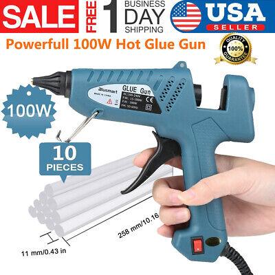 Hot 100W Glue Gun for Industrial / Home High Temperature with 10 Pcs Glue Sticks - Glue Gun Sticks